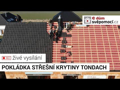 Záznam živého vysílání - Pokládka střešní krytiny Tondach Stodo 12