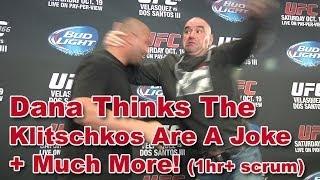 UFC 166 Dana White Scrum: Klitschkos Are A Joke, Fedor vs Lesnar, Cutting Palhares