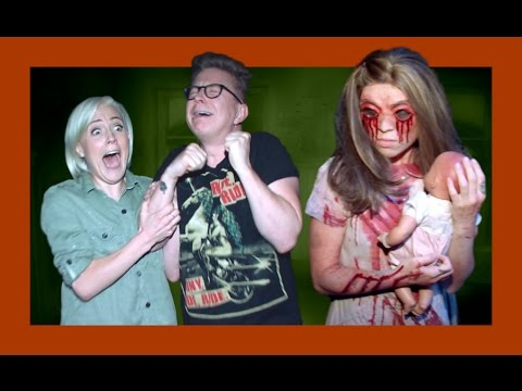 Haunted House Maze with Hannah Hart | The Tyler Oakley Show
