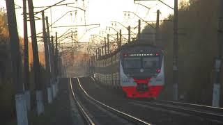 Электропоезд ЭД4М-0488 ЦППК перегон Бекасово 1-Нара 15.10.2018