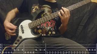 The Killers - Mr. Brightside Bass Cover (Tabs)