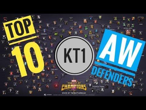 TOP 10 Best Alliance War Defenders! - #MCOC HATE LIST!