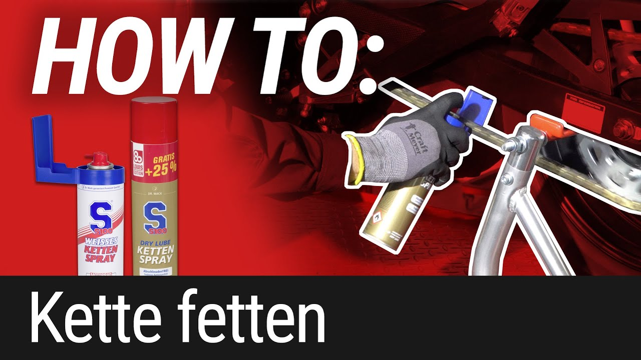 HOW TO: Motorradkette schmieren/fetten