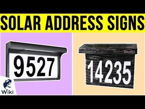 7 Best Solar Address Signs 2019