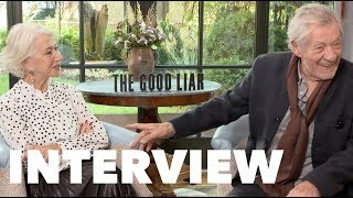 THE GOOD LIAR Fun Interview: Helen Mirren & Ian McKellen On Dating and Tips for Struggling Actors