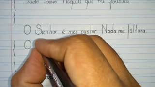O Escrever No Caderno De Caligrafia E Melhorar A Letra