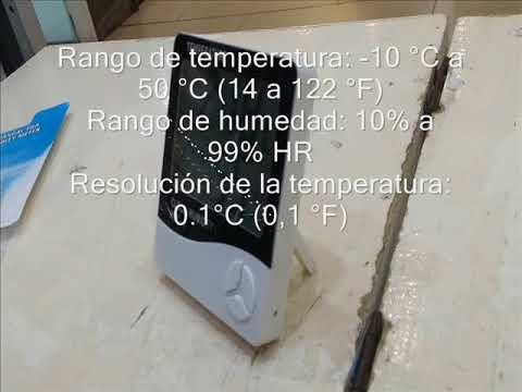 Termómetro Digital Ambiental Humedad Reloj Htc 1