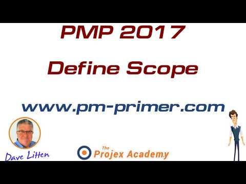 PMP Exam PMBOK Define Scope - YouTube