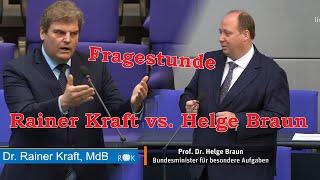 Befragung der Bundesregierung mit Rainer Kraft vs. Helge Braun
