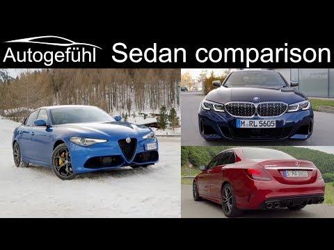Alfa Giulia Veloce vs BMW 3-Series 340i vs Mercedes C-Class C43 AMG comparison REVIEW