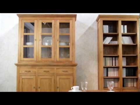 Massive Landhausmöbel - Vitrinen Kommoden Regale