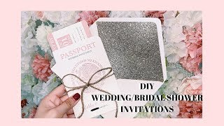 DIY WEDDING INVITATIONS | WEDDING SERIES | ASHLEYSALONSO