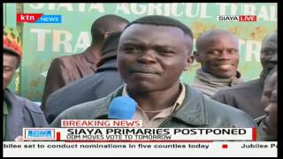 Siaya residents express their frustration with the postponement of the party primaries