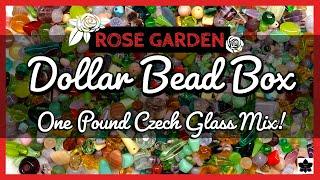✨ONE POUND Czech Glass BEAD MIX REVEAL 🌹ROSE GARDEN ❤️Dollar Bead Box | Beaded Jewelry Making