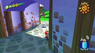 Super Mario Sunshine - Bianco Hills - Shadow Mario on the Loose - Shine 8/120 HD