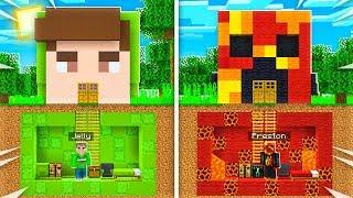 PrestonPlayz vs Jelly SECRET Underground Base Build BATTLE! (Minecraft Challenge)