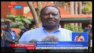 KTN Leo Wikendi: Kiongozi wa ODM Raila asisitisha uwepo wa maandamano kuhusu IEBC, Septemba 25 2016