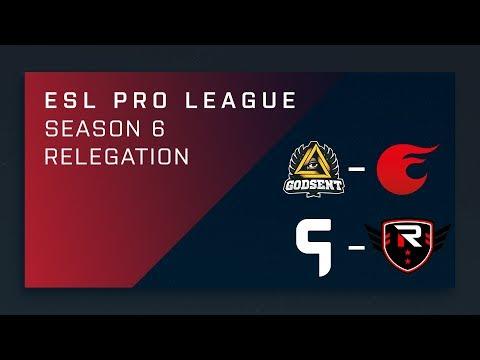 CS:GO - GODSENT vs. eXtatus | Ghost vs. Rise Nation - ESL Pro League Season 6 Relegation
