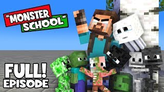 "FULL STORY OF ""MONSTER SCHOOL"": HEROBRINE MEETS HIS STUDENTS: SAD MINECRAFT ANIMATION"