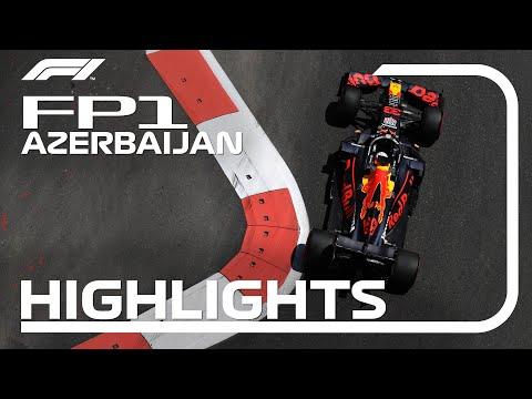 F1 アゼルバイジャンGP 市街地コースで行われるあアゼルバイジャンのFP1ハイライト動画
