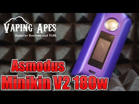 YouTube Video zu Asmodus Minikin V2 Touchscreen Akkuträger 180 Watt