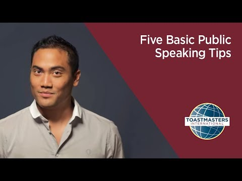 Five Basic Public Speaking Tips