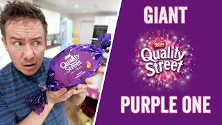 Giant Quality Street Purple One made...using a Giant Quality Street Purple One