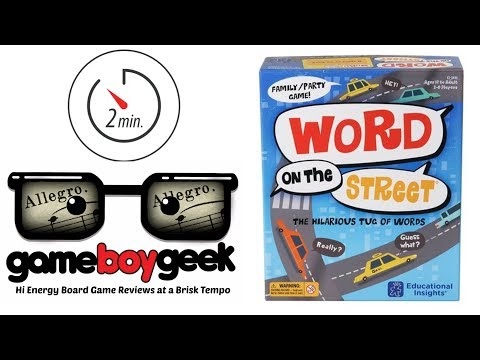 The Game Boy Geek's Allegro (2-min) Review of Word on the Street