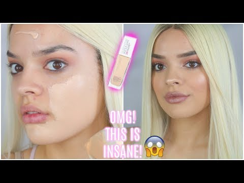 NEW Maybelline 24HR Superstay FULL COVERAGE Foundation | Cakey or Nah? | JackieFlores
