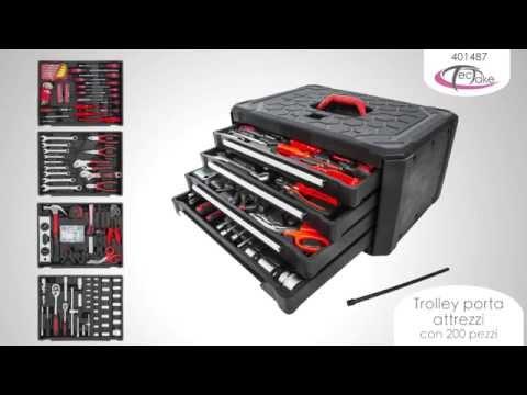 TecTake - Trolley porta  attrezzi  con 200 pezzi
