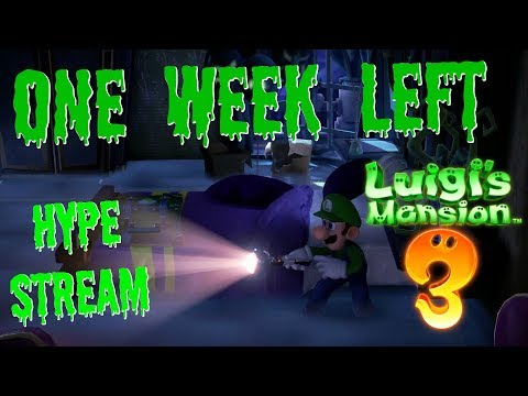ONE WEEK LEFT! Luigi's Mansion 3 HYPE STREAM!  - ZakPak