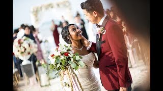 Phuket Wedding Planner - WEDDING BOUTIQUE - Burgundy Fairy Tale Beach Wedding -  Elena & Peter