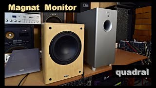 Magnat Monitor SUB 200A Active Quadral SUB 48 Aktiv Subwoofer Woofer Bass Reflex Speaker Box