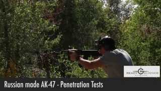 Russian AK47 With Tulammo 762 X 39 FMJ Penetration Test