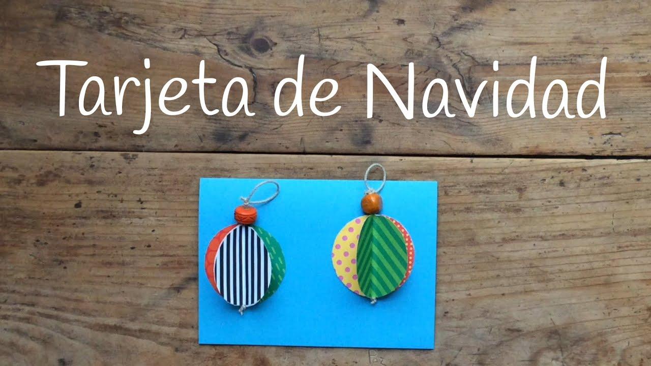 Tarjetas de Navidad para niños en 3D - Bolas navideñas de papel