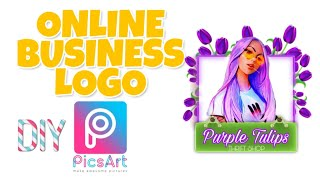 ONLINE BUSINESS LOGO LAYOUT Picsart Tutorial #2 | Fast And Easy Using Your Phone