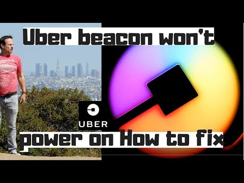 Uber beacon won't power on how to fix