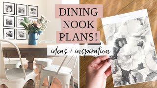 DECORATING MY DINING NOOK | Sharing My Ideas For Our Small Open Concept Dining Nook
