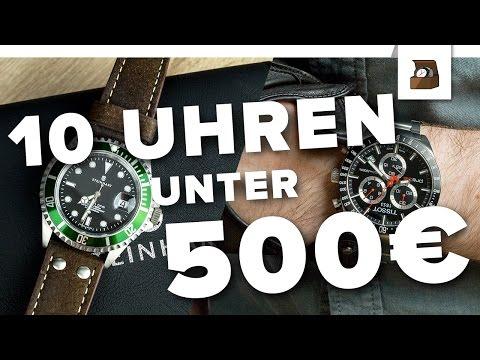 10 UHREN UNTER 500 EURO // Kaufratgeber#3 // Deutsch // FullHD