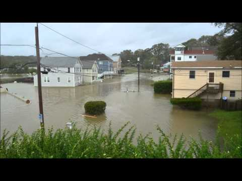 Hurricane Irene 2011 Milford & West Haven Beach Connecticut HD Part II