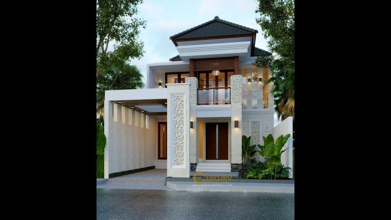 Video 3D Desain Rumah Villa Bali 2 Lantai Ibu dr. Dita di Denpasar, Bali