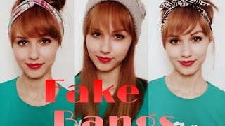 How to: Fake Bangs without cutting/adding any hair | Stella