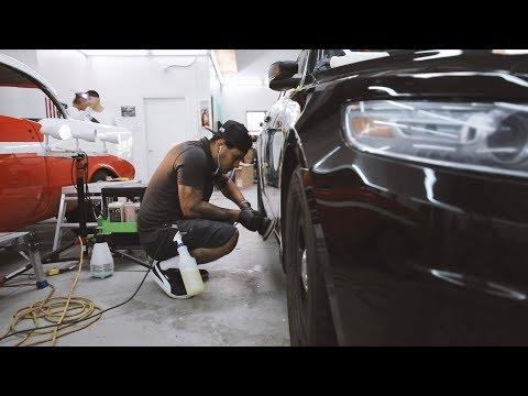 How to paint correct a black car paint , polish and restore black car paint.