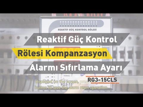 RG3 - 15 CLS Reaktif Güç Kontrol Rölesi - Kompanzasyon Alarmı Sıfırlama Ayarı