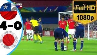 ملخص مباراة تشيلي واليابان 4-0 🔥 رباعية تشيلي 🔥جنون رؤوف خليف HD