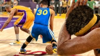OMG CURRY BROKE YOUNG'S ANKLES! NBA 2K17 My Career Gameplay Ep. 10