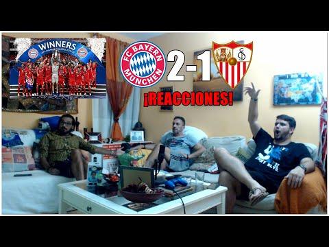 BAYERN VS SEVILLA 2-1 REACCIONES | UEFA SUPERCUP 2020