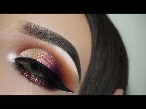 Glamorous Peachy Rose-Gold Cat Eye Tutorial