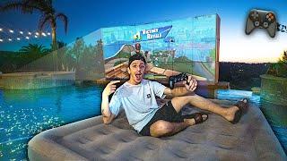 The ULTIMATE Swimming Pool Gaming Setup!! (HOMEMADE DIY)