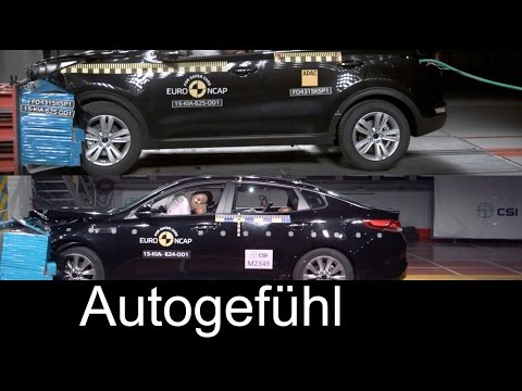 2016 new Kia Optima vs Kia Sportage crash test comparison neu - Autogefühl